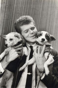 Van Cliburn with space dogs Belka and Strelka
