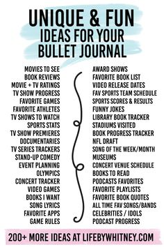 279 Bullet Journal Ideas: The Master List {+ Printographic} - New and unique bullet journal layout ideas! Never run out of bullet journal ideas for your collecti - Bullet Journal Spreads, How To Bullet Journal, Bullet Journal Notebook, Bullet Journal Aesthetic, Bullet Journal Inspo, Book Journal, Bullet Journal Layout Ideas, List Of Bullet Journal Pages, Bullet Journal Ideas Templates