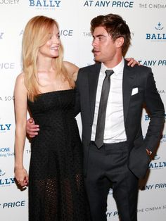 "Heather Graham and Zac Efron attend the Cinema Society & Bally screening of Sony Pictures Classics' ""At Any Price"" at Landmark Sunshine Cinema on April 18"