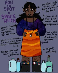 How to Spot a Space Witch! Today's witch is like, such a space cadet. The rest of this series can be found here!