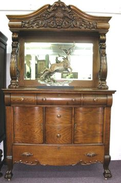 American Oak Sideboard - Morris Antiques have lots of oak buffets and sideboards...all sizes in stock.