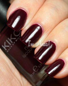 Im A nail art addict!: KIKO 243 Plum Red