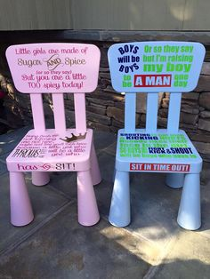 Time out chair Personalized Kids Chair, Time Out Chair, Future Mom, Girls Time, Baby Hacks, Sugar And Spice, My Children, Future Children, Kids And Parenting