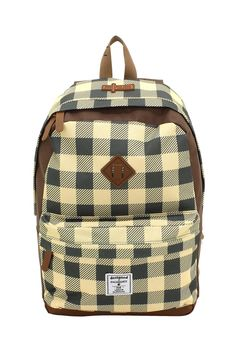 Daypack F|23 Check  ocker/braun #F23 #Friedrich23 #Star #Palm #Check #Holiday