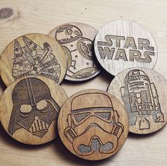 Star Wars Coasters by Homecreationss on Etsy