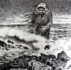 Theodor Kittelsen - The Sea Troll (detail), 1887 by Aeron Alfrey, on Flickr