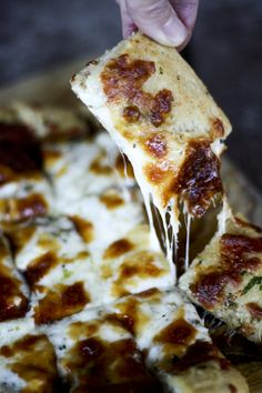 Cheesy Garlic Breadsticks from www.foodiewithfamily.com