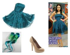 """""""Jade West- Nickelodeon's Victorious- Prom Wrecker"""" by brainyxbat ❤ liked on Polyvore featuring Queen Bee and Steve Madden"""