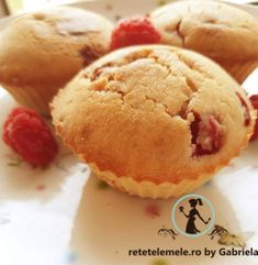 Brioșe cu zmeură 1 Muffin, Breakfast, Morning Coffee, Muffins, Cupcakes