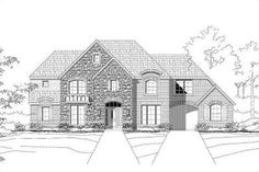 Traditional Style House Plan - 5 Beds 3.50 Baths 4081 Sq/Ft Plan #411-829 Exterior - Front Elevation - Houseplans.com