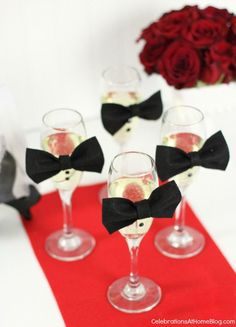 DIY: glam up your champagne glass for the red carpet #oscarsparty