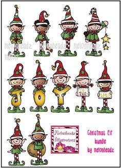 MelonHeadz Christmas elves bundle