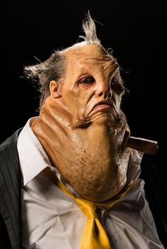"""George and Cig's creation, inspired by the gangster Tony """"Big Tuna"""" Accardo. he had a tuna bat and owuld make people sleep with the fishes. nice story for a decent character Horror Makeup, Scary Makeup, Sfx Makeup, Special Makeup, Special Effects Makeup, Face Off Makeup, Face Off Syfy, Alien Photos, Prosthetic Makeup"""