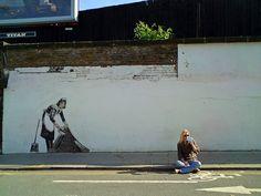 The Establishing Shot: BANKSY MAID - CAMDEN, LONDON by Craig Grobler, via Flickr
