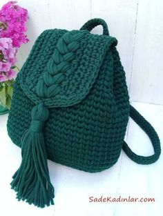 This Pin was discovered by Nih Knitting yarn Mint Size 100 m Thickness mm Weight 330 g cotton Main manufacturing Worth 1900 tg Vatsap 87015190599 # knitting yarn # Crochet Pattern - Check this out now! Crochet Backpack Pattern, Free Crochet Bag, Mode Crochet, Crochet Bags, Crochet Top, Crochet Bag Tutorials, Diy Crafts Crochet, Crochet Ideas, Crochet Projects