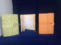 Sweet Mini Journal using Stampin'Up! Brights DSP Stack, Daffodil Delight, Pumpkin Pie and Old Olive.