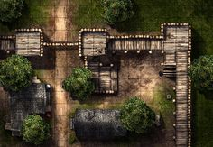 Village Defense, a FREE printable battle map for Dungeons and Dragons / D&D, Pathfinder, and other tabletop RPGs. Tags: bandit, shop, encounter, road, town, city, village, forest, tree, wall, tile set, house, print