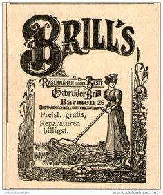 Original-Werbung/Inserat/ Anzeige 1902 - BRILL'S RASENMÄHER ca. 45 x 50 mm