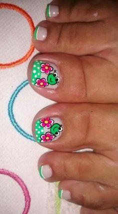 Pretty Toe Nails, Pretty Toes, Mani Pedi, Manicure And Pedicure, Pedicures, Toe Nail Art, Easy Nail Art, Shellac Nails, Nail Polish