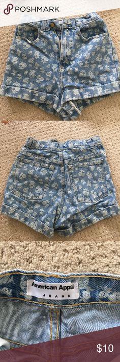 American apparel jean shorts Floral print American Apparel Shorts Jean Shorts