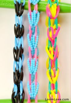 Make a Circle of Hearts bracelet without a Rainbow Loom. All you need is your hook.