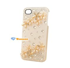 studded iphone 4 case floral studded iphone 4 case by Veasoon, $18.99