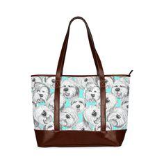 OES heads aqua Tote Handbag (Model 1642)