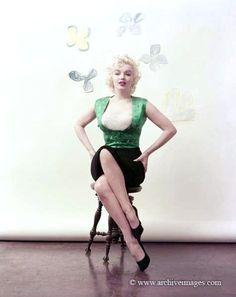 Milton Greene, Marilyn Monroe, Bauman sitting
