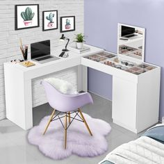 Room Design Bedroom, Home Room Design, Room Ideas Bedroom, Girl Bedroom Designs, Small Room Bedroom, Bedroom Layouts, Home Office Design, Bedroom Decor, Bedroom Simple