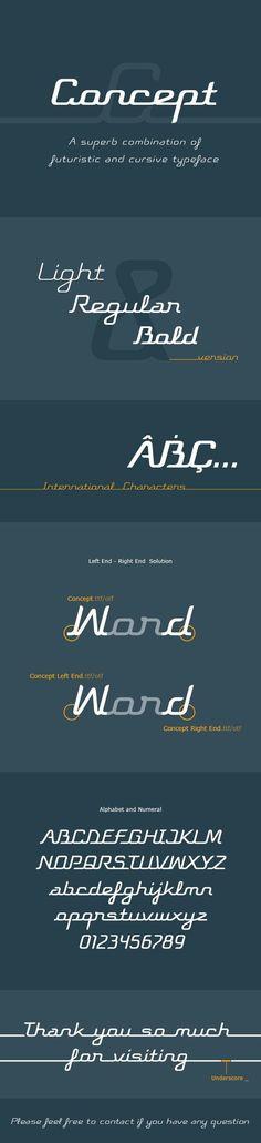 Concept Typeface for $14  #BestDesignResources