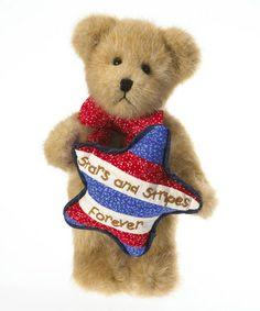 Look what I found on #zulily! Maddie Bear 'Stars & Stripes' Plush Bear #zulilyfinds
