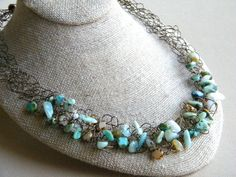 Wire Crochet Necklace