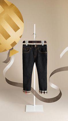 Burberry Check Cuff Jeans