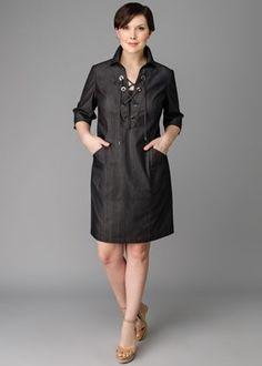 Plus-Size Luna Cloth Nissa Dress : Womens Dresses & Designer Outfits | Lafayette148ny.com
