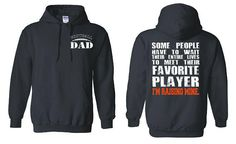 Football Dad Hoodie Favorite Player I'm Raising Mine Football Dad Shirt Football Mom Shirt Football Shirts Football Party Football Jersey by NCWDesigns. Explore more products on http://NCWDesigns.etsy.com
