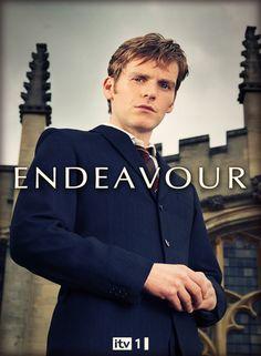 """Affiche """"Les Enquêtes de Morse"""" (titre série """"Endeavour"""" en Grande-Bretagne), avec Shaun Evans"""