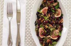 Foodista | Recipes, Cooking Tips, and Food News | Mixed Green Farro Salad And Fresh Figs