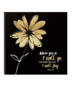 Look what I found on #zulily! 'Where You Go' Glitter Flower Wall Sign #zulilyfinds