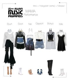"""""""Lunar (루나) MAMA Performance"""" by lunar-official ❤ liked on Polyvore featuring Oscar de la Renta, Vetements, Moschino, Marques'Almeida, Proenza Schouler, Carmen March, Yves Saint Laurent, ASOS, Hot Topic and Chanel"""