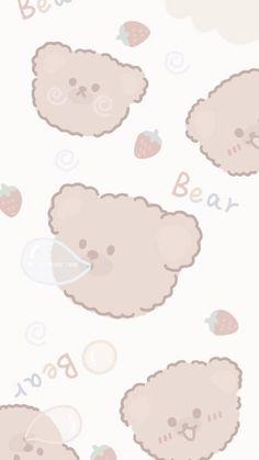 Cute Pastel Wallpaper, Soft Wallpaper, Cute Patterns Wallpaper, Bear Wallpaper, Aesthetic Pastel Wallpaper, Kawaii Wallpaper, Wallpaper Iphone Cute, Aesthetic Wallpapers, Cute Cartoon Wallpapers
