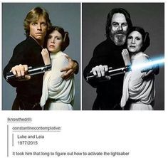It took a long time to activate the light saber, yes