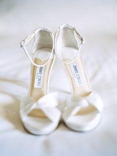 white Jimmy Choo sandals
