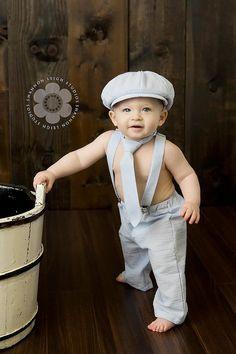Newsboy Set - Baby boy photo prop - ring bearer outfit - seersucker - newborn prop - newsboy outfit - seersucker baby suit - toddler outfit via Etsy