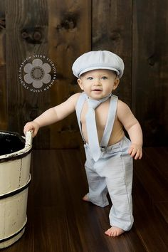 Newsboy Set - Baby boy photo prop - ring bearer outfit - seersucker - newborn prop - newsboy outfit - seersucker baby suit - toddler outfit via Etsy