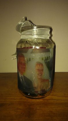 Mason jar with pictures
