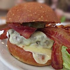 The Bacon Cheeseburger at Egg in Williamsburg, Brooklyn