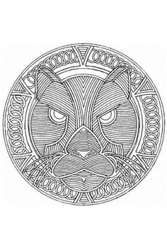 fire mandalas coloring pages   Free Printable Mandala Coloring Pages   Fire dragon ...