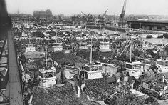 Troop ships in Southampton docks in preparation for D-Day