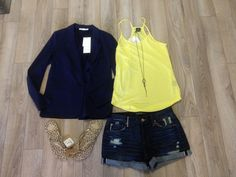 Add a blazer to this tank and boyfriend shorts. Instant style