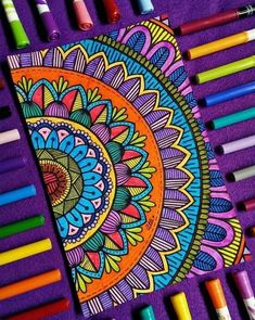 Image may contain: stripes Easy Mandala Drawing, Mandala Doodle, Mandala Art Lesson, Mandala Artwork, Zen Doodle, Easy Doodle Art, Doodle Art Designs, Doodle Art Drawing, Doodle Patterns